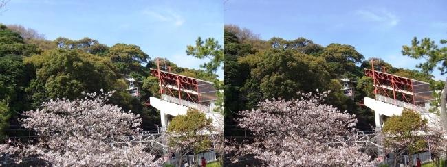 須磨浦ロープウェイ(交差法)