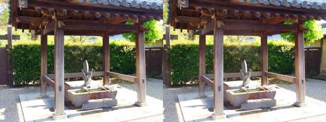 法隆寺 東院伽藍 手水舎(交差法)