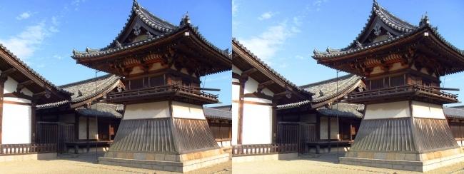 法隆寺 東院伽藍 鐘楼②(平行法)