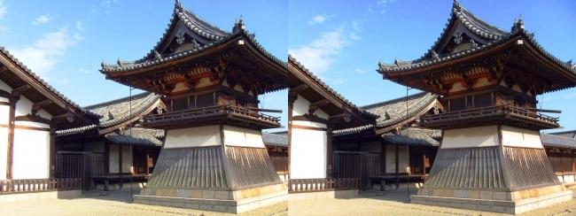 法隆寺 東院伽藍 鐘楼②(交差法)