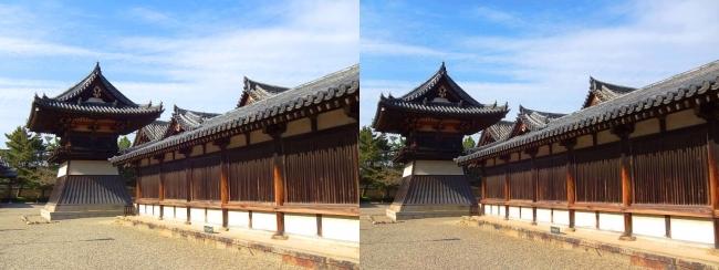 法隆寺 東院伽藍 鐘楼①(交差法)