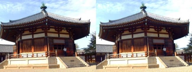 法隆寺 東院伽藍 夢殿①(平行法)