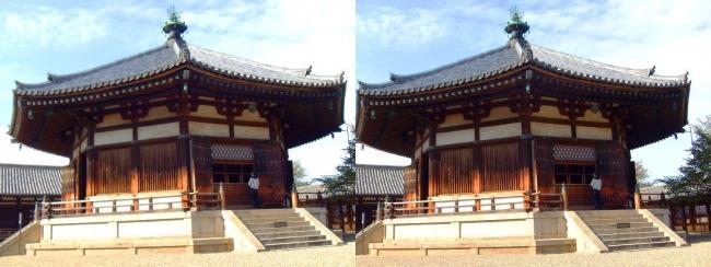 法隆寺 東院伽藍 夢殿①(交差法)