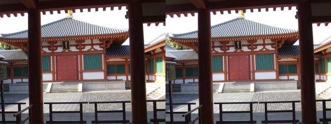 法隆寺 大宝蔵院②(平行法)
