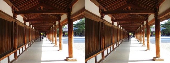 法隆寺 回廊①(平行法)