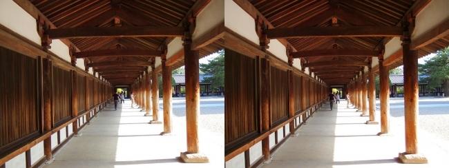 法隆寺 回廊①(交差法)