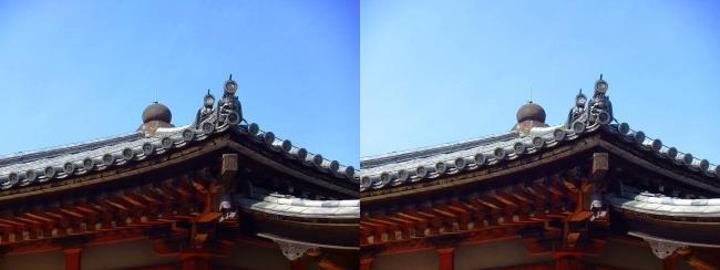 法隆寺 西円堂②(平行法)