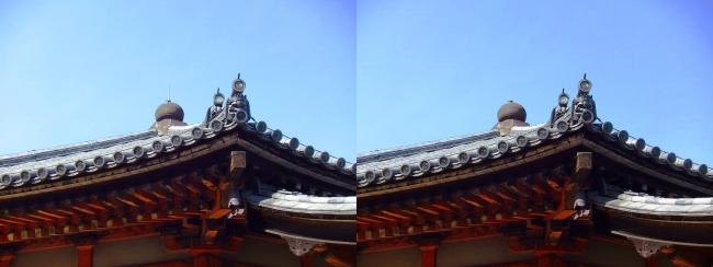 法隆寺 西円堂②(交差法)