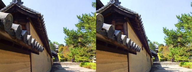 法隆寺 西円堂遠景①(平行法)