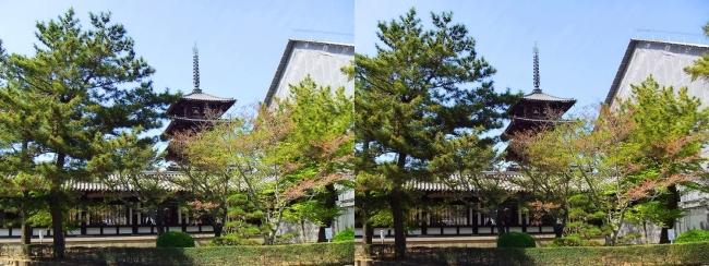 法隆寺 西院伽藍と五重塔①(交差法)