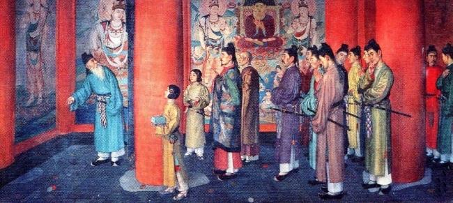金堂落慶之図 和田英彦 1918年(大正7年)