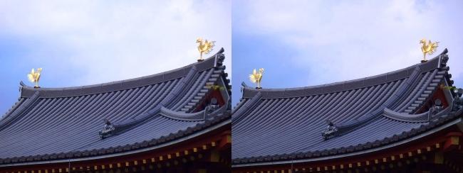 平等院 金銅鳳凰②(交差法)