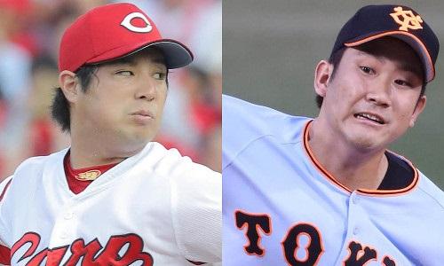 広島-巨人 2016.8.5 先発投手 野村・菅野