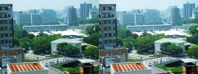 おりづるタワー おりづる広場眺望 平和記念公園(平行法)