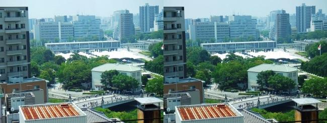 おりづるタワー おりづる広場眺望 平和記念公園(交差法)