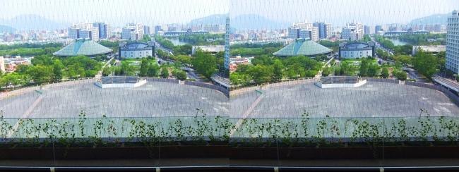 おりづるタワー ひろしまの丘眺望 旧広島市民球場跡地(交差法)
