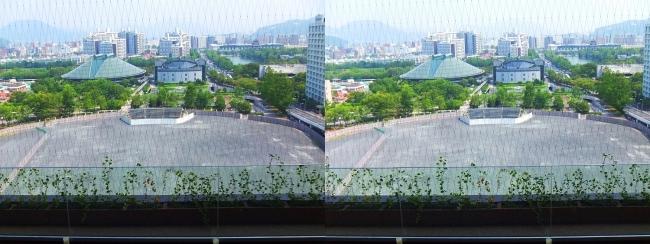 おりづるタワー ひろしまの丘眺望 旧広島市民球場跡地(平行法)