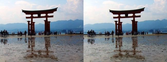 嚴島神社 大鳥居⑤(平行法)