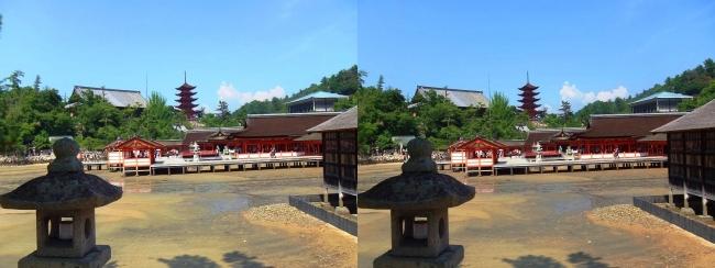 西松原 嚴島神社(交差法)