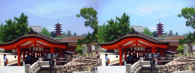 嚴島神社 西回廊 参拝出口(平行法)