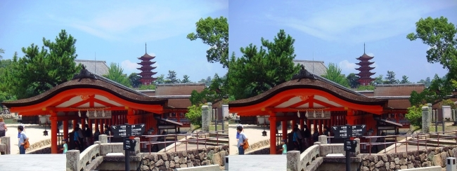 嚴島神社 西回廊 参拝出口(交差法)