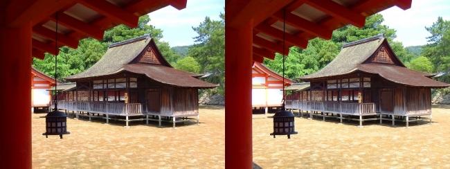 嚴島神社 西回廊 天神社(平行法)