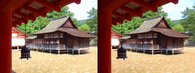 嚴島神社 西回廊 天神社(交差法)