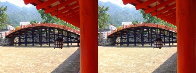 嚴島神社 西回廊 反橋(平行法)