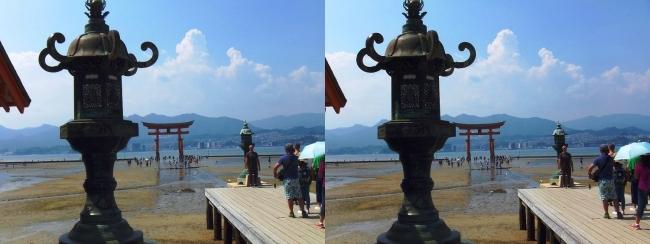 嚴島神社 平舞台 火焼前 大鳥居(交差法)
