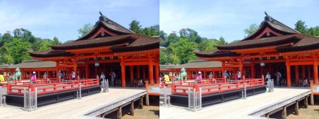 嚴島神社 高舞台 本社 祓殿(平行法)