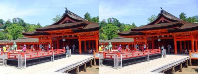嚴島神社 高舞台 本社 祓殿(交差法)
