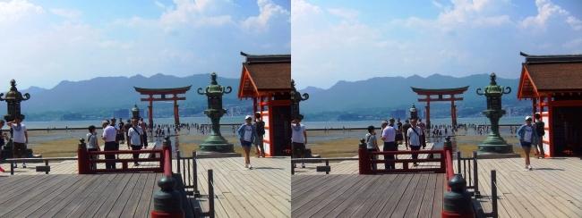 嚴島神社 高舞台 平舞台 大鳥居(交差法)