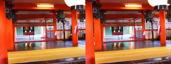 嚴島神社 本社 本殿 弊殿 拝殿(平行法)