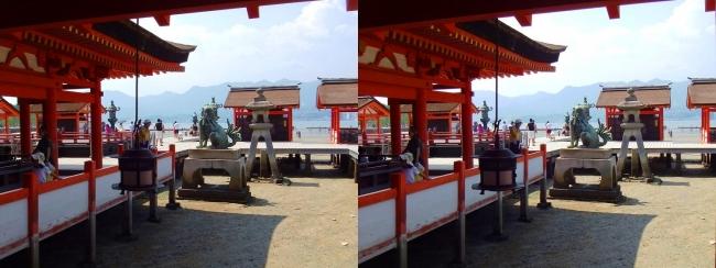 嚴島神社 東回廊⑥(平行法)