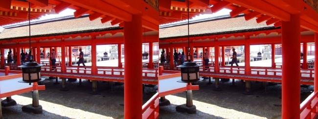 嚴島神社 東回廊⑤(交差法)