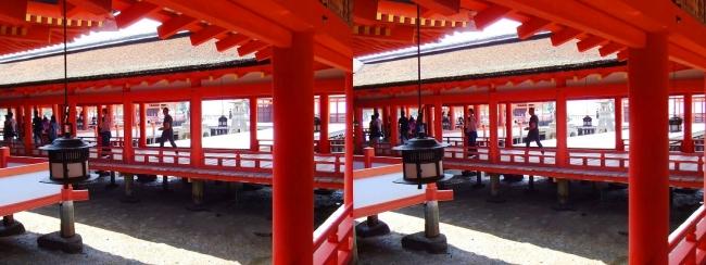 嚴島神社 東回廊⑤(平行法)