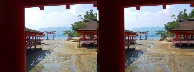 嚴島神社 東回廊④(交差法)
