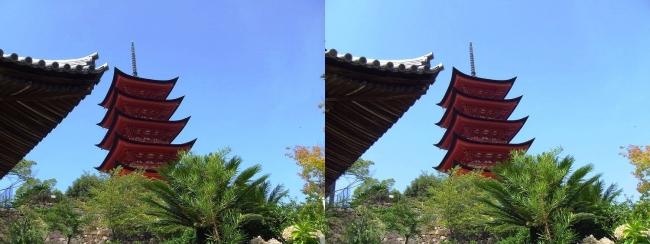 嚴島神社 五重塔(平行法)