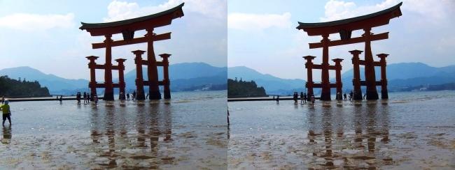 嚴島神社 大鳥居①(交差法)