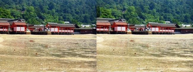 御笠浜 嚴島神社②(平行法)