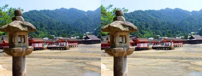 御笠浜 嚴島神社①(平行法)