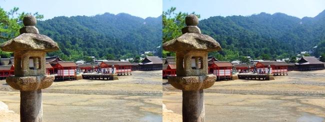 御笠浜 嚴島神社①(交差法)