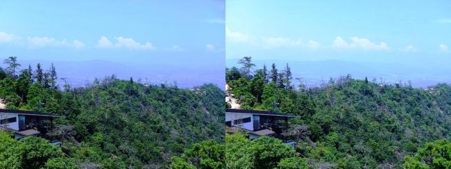 宮島ロープウェー 獅子岩展望台からの眺望④(平行法)
