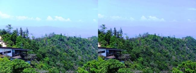 宮島ロープウェー 獅子岩展望台からの眺望④(交差法)