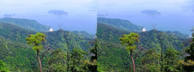 宮島ロープウェー 獅子岩展望台からの眺望③(交差法)