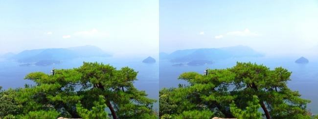 宮島ロープウェー 獅子岩展望台からの眺望①(交差法)