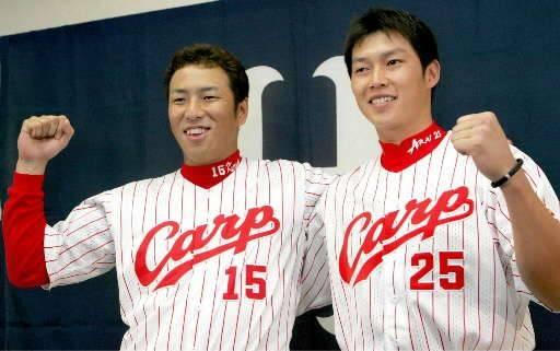 2005年最多勝の黒田と本塁打王の新井