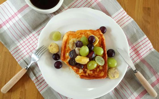 和栗とぶどうのフレンチトースト2
