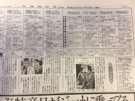 北海道新聞1977年10.26夕刊ラテ欄