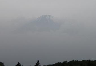 かすかにみえた富士山(芦ノ湖スカイラインから)